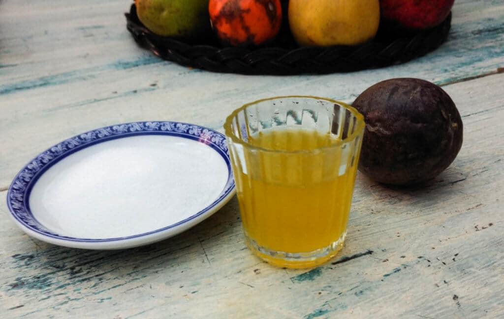 notre sirop de fruit de la passion maison utilisé dans tous nos ateliers colada