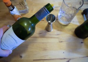 Manzanilla pour le dry martini du paysan
