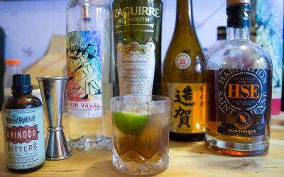 Le Rom Arrangé cocktail, Création Colada, voyage garanti, recette et origine