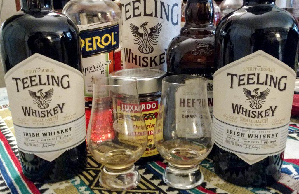 Degustation commune des deux Teeling whiskey