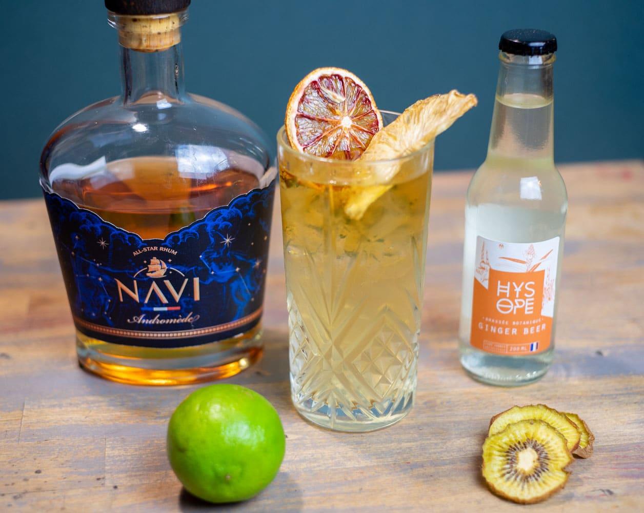 Dark n stormy au navi et Hysope Ginger Beer Françaiose