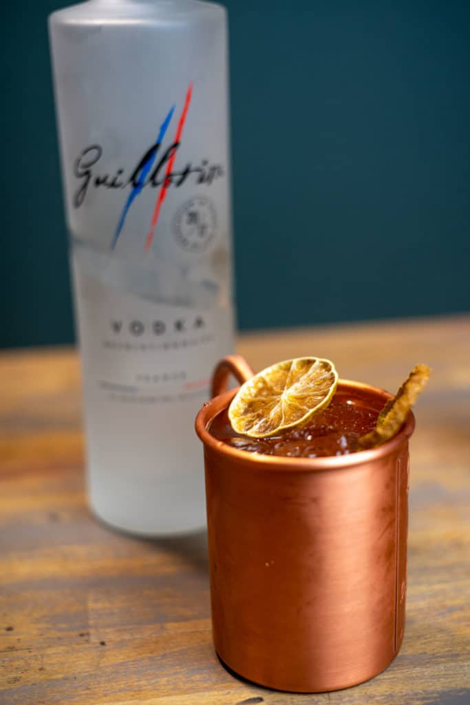 Guillotine vodka pour Moscow Mule