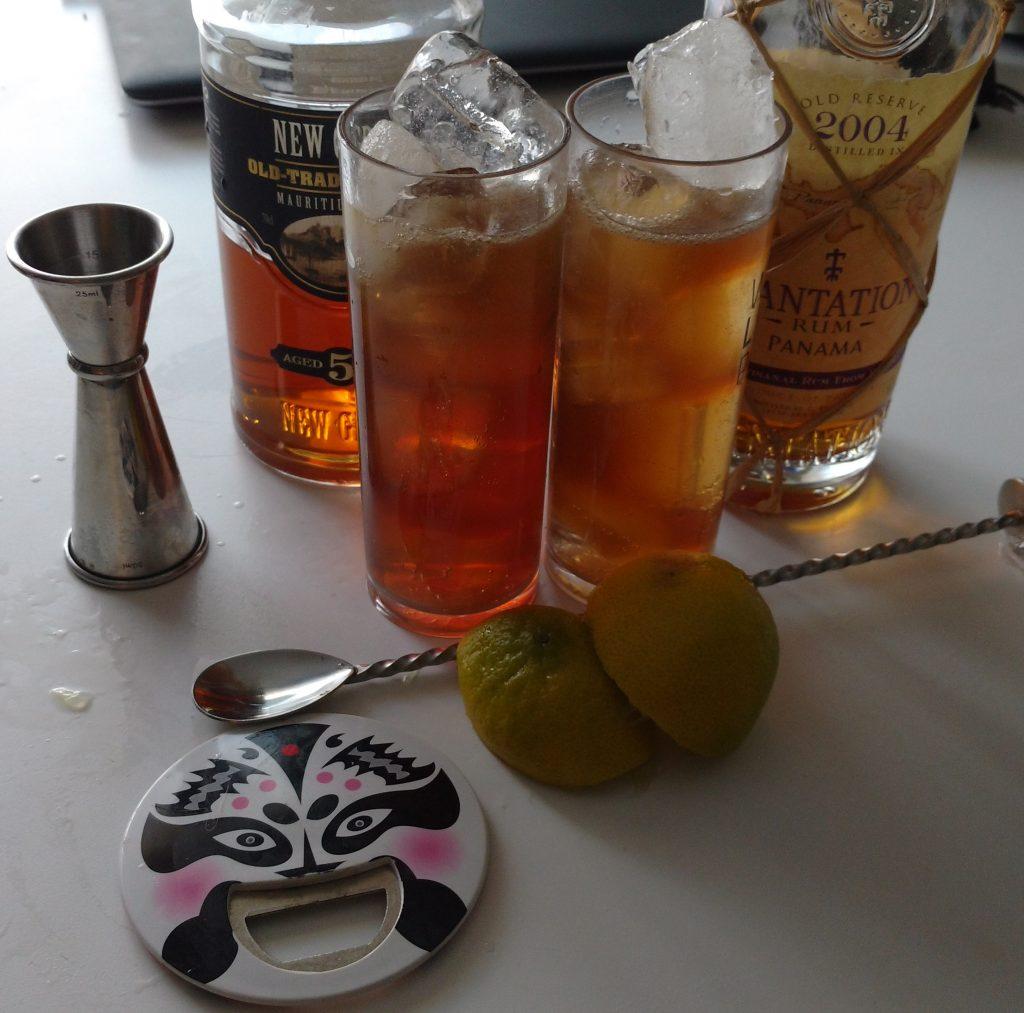 cuba libre cocktail fait avec deux rhums différents pour Colada