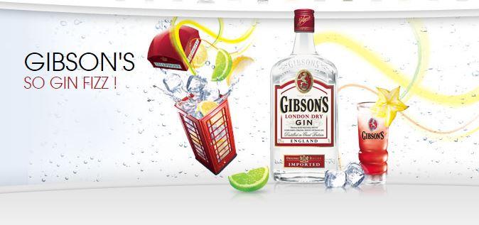 Gibson gin fizz cocktail colada