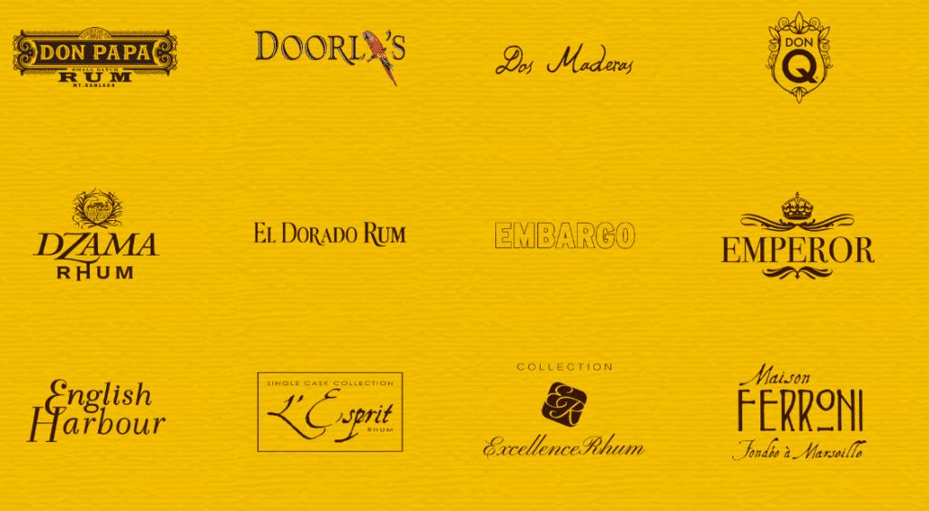 Les marques du rhumfest doorly's Dos Maderas, El Dorado, Excellence-rhum