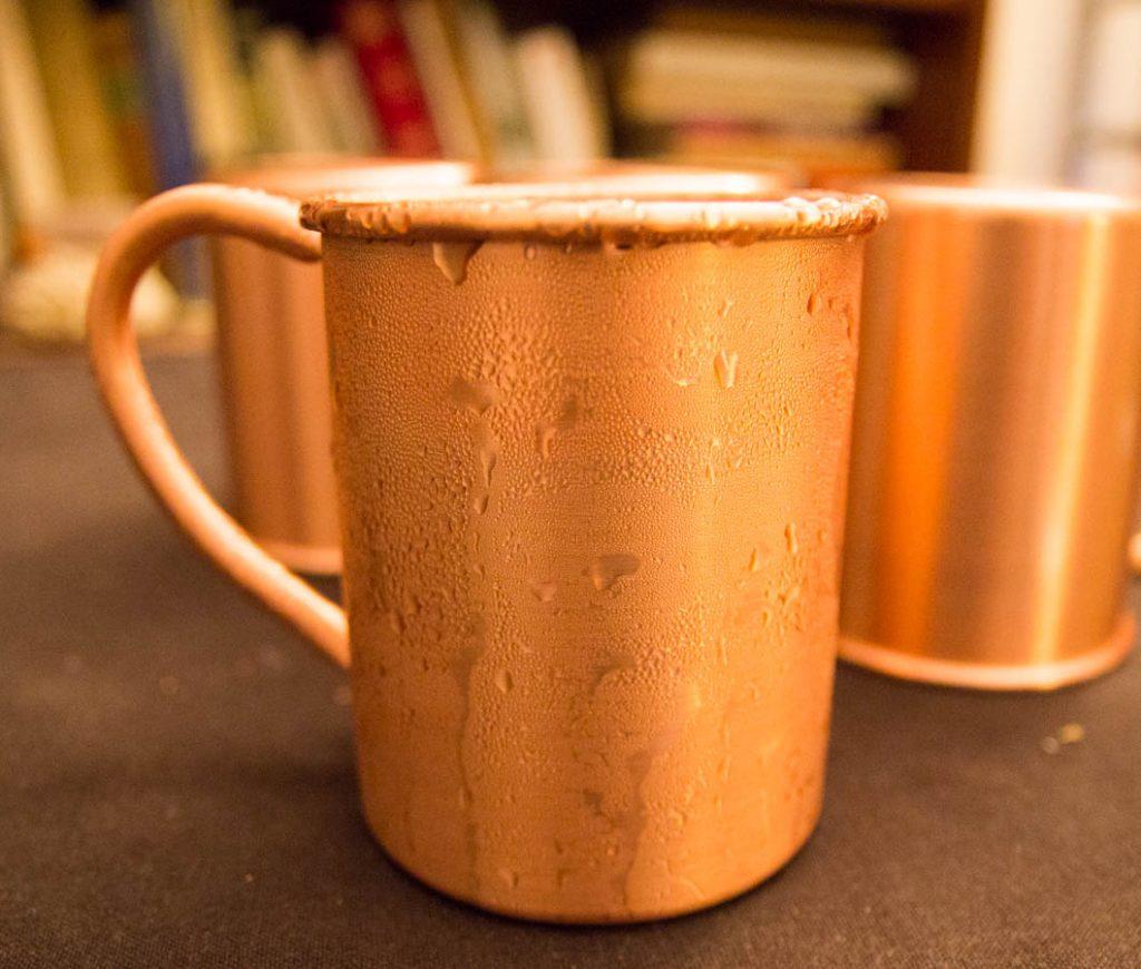 Mug givré du moscow mule cocktail