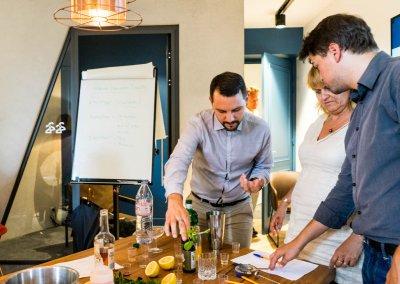Colada atelier teambuilding cocktail - HEC