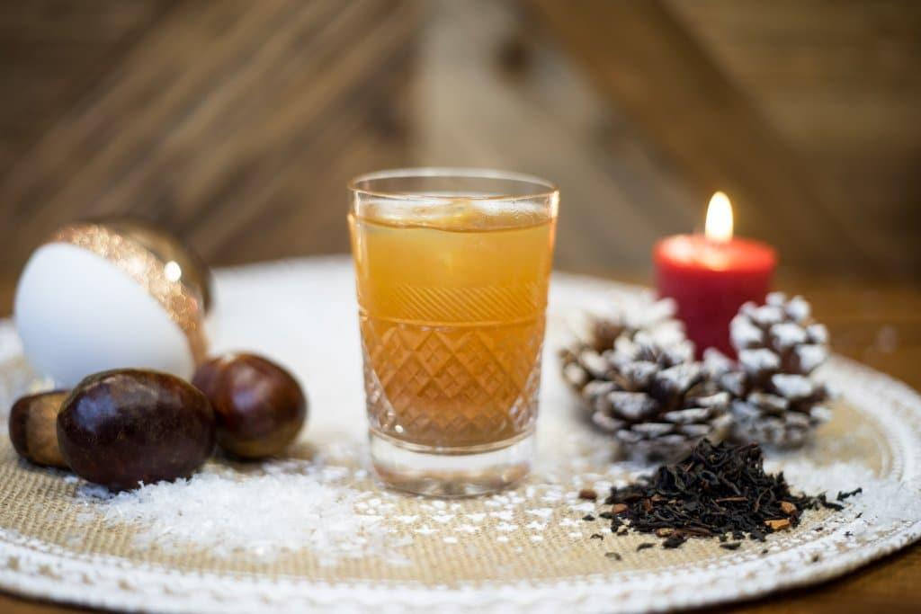 Le Breuvage des rois mages un cocktail 100% noel, chataigne, pomme, thé, liqueur