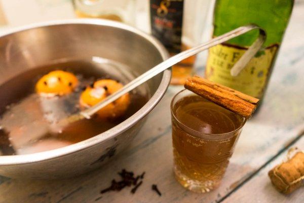 punch de noel Colada avec du rhum et du cidre