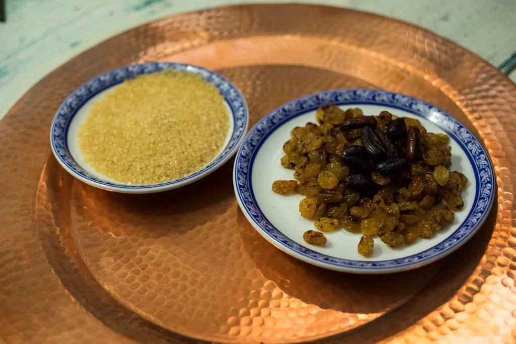 coupelle sucre et raisins pour sirop maison colada