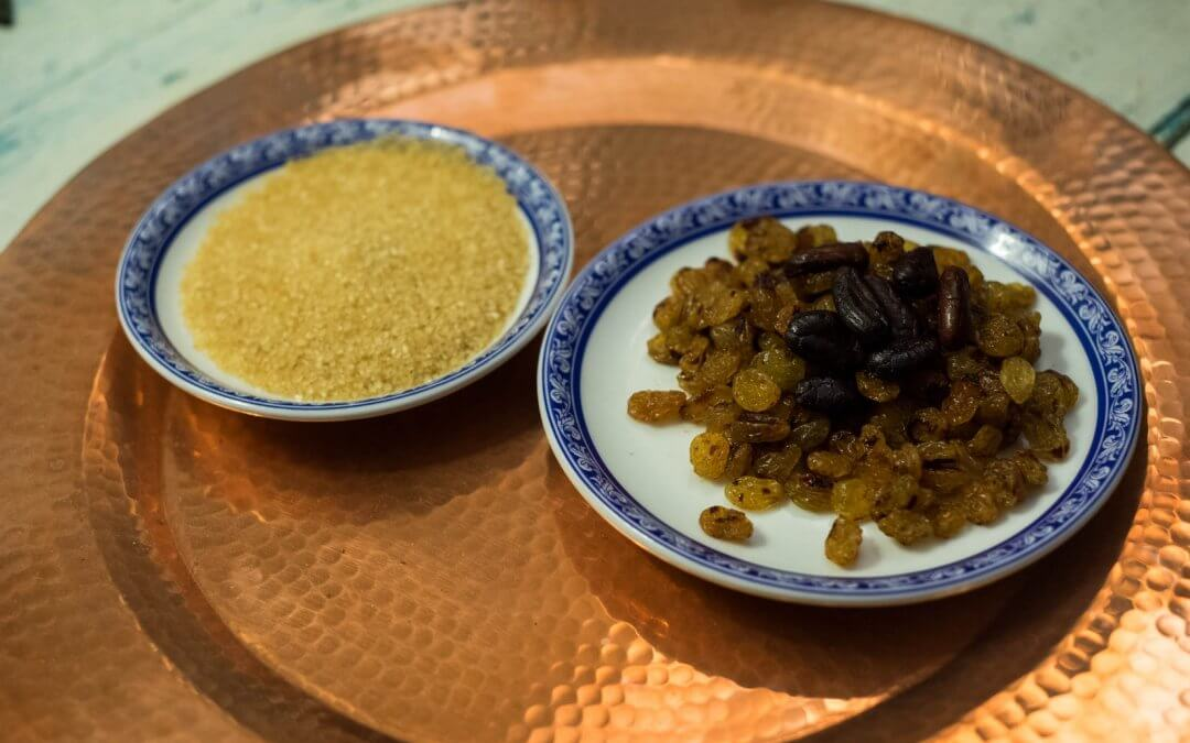 Recette du Sirop de fèves de cacao et raisins secs toastés