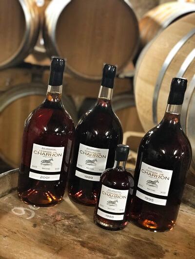 les bouteilles du Domaine de Charron
