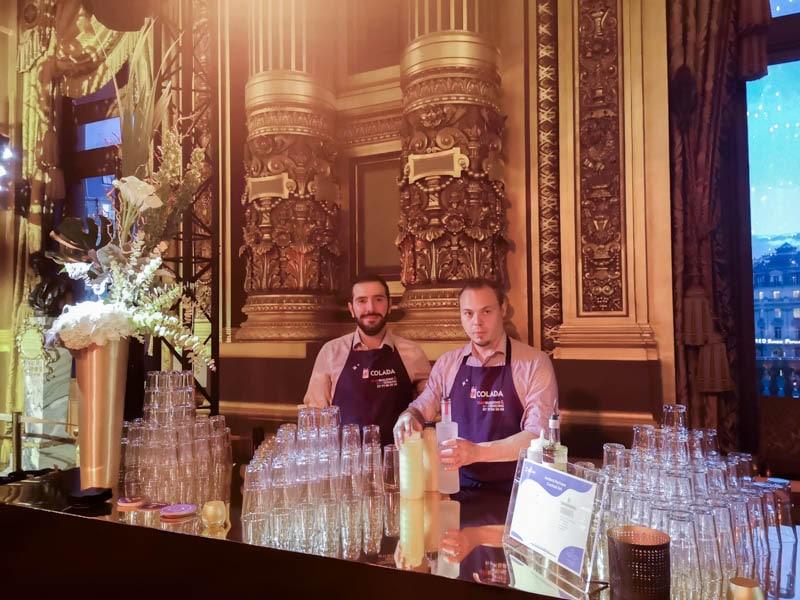 Bar à cocktail lors d'un evenement mixologie